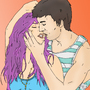 Six and Seven Romantic kiss