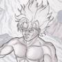 Goku In Prismacolor by MartinMaySee