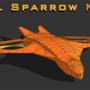 VTOL Sparrow lowpoly wireframe