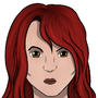 Red haired woman by Morbidity