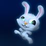Happy lil rabbit in space by jack2712