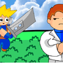 FF7 Cloud and Rufus