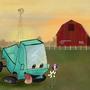 truck on the farm
