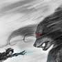 The Daemon Wolf by BluMiu