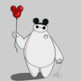 Baymax goes to Disney by CornellArt