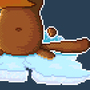 Axe wielding platypus on Ice by ArcadeHero