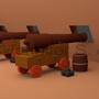 Ship Cannon Scene by jsabbott
