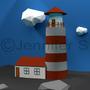 3D Lighthouse Scene by jsabbott