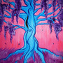 Fantasy Blue Tree by Sysica