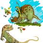 Some Dinos! by EyeSeaThings