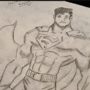 SUPERMAN V BATMAN SKETCH by Bloodyanimation