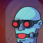 Mr Freeze with a ball gag