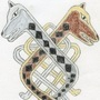 Celtic Hounds Knot Drawing by JamesHatfeld