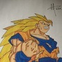 Dragon Ball Z Super Saiyan 3 by Bloodyanimation