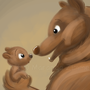 Mama Bear and Baby Bear by ArtByMaranda