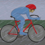 Man On a Bicycle (GIF Loop) by TuxedoCatCartoons