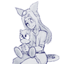 sara and sonic by Bbycheese