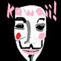 Kawaii Guy Fawes mask by CHROMESTAR