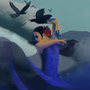 Water Dancer by DeathrayDieDie