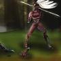 ninja vs robot by wraith8r