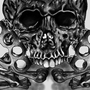 Knuckleduster Skull Decal