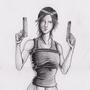 lara croft sketch by tbcoop