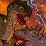 Battle for Jurassic World by BrandonP