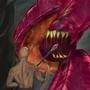 A Cave Purple Worm Magic Card