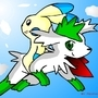Minun & shaymin by Foxpwned