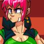 Random pink hair girl by TwistedGrim