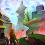 Big fantasy landscape by rvhomweg