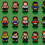 pixel soccer players by UltimoGames