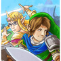 BF and GF as Link and Zelda by Buckycarbon