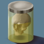 Skull in a jar by AliceN7