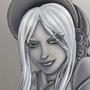 Bloodborne's Plain Doll Grayscale