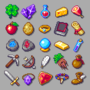RPG items set