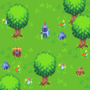 Knight and grass mockup