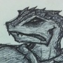 Lizard Scribe by Soliloquous