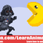 16-Bit Darth Vader and Pac-Man by WaldFlieger