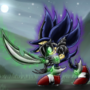 Dark Sonic Knight Power-up by TheMetalicDarkSonic