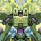 Angry Face Luminint Robot