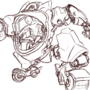 Mech Suit (Sketch) by TopSpinThefuzzy