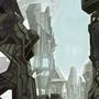 Sci-fi landscape by FASSLAYER