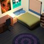 3D Bedroom by IceBurger