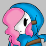 Shy Girl/Gal Light Blue Hoodie by Plazmix