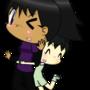 Aiko hugging Kyoko by Nosh59