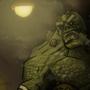 Killer Croc faces down Batman by MelesMeles