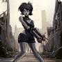 Zombie machine girl by FASSLAYER