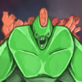 Green Alien Monster! by ADHDizzle