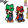 Paper Mario cast (Drawn in roughly 2007) by Wegra